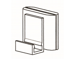 Vertical Magnetic Clip White
