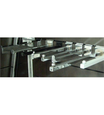 Face-out Straight Chrome 0400mm Rectangular
