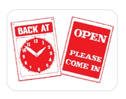 Back At...Clock Sign
