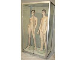 Mannequin Display Cabinet Dble