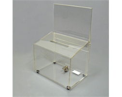 Rectangular Ballot Box Clear