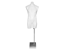 Torso Male White Plastic