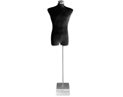 Torso Male Black Fabric Metal
