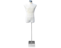 Torso Male White Fabric Metal